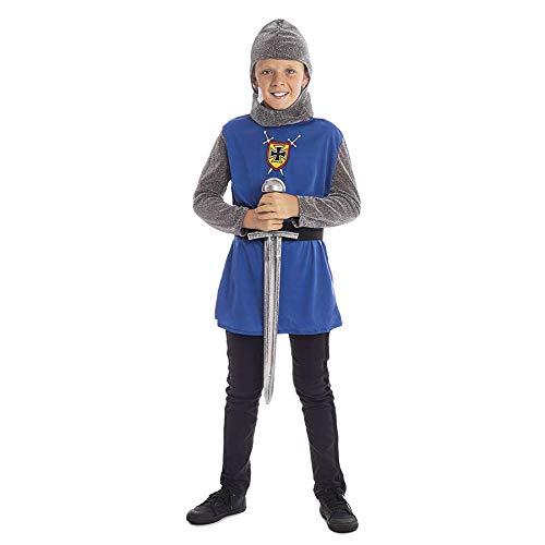 Disfraz Caballero Medieval Azul niño Infantil para Carnaval (5-6 años) (+ Tallas) Carnaval Medievales