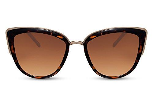 Cheapass Gafas de Sol de Gato Azules Espejadas Lentes Alta Calidad 400UV de Diseñador Rojas Mujeres