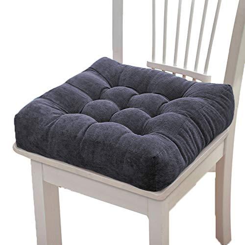 Rutschfeste Sitzpolster, atmungsaktiv, 8 cm, Stuhlkissen, Cord-Pads, gepolstertes Sitzkissen für Büro, Esszimmer, Auto, Studenten, Stühle (43 x 43 cm, marineblau)