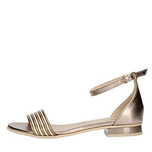 Sandalen für Damen NeroGiardini Leder Bronze E012500D. Scarpa raffiniertes Design. Kollektion Frühjahr Sommer 2020 EU 39