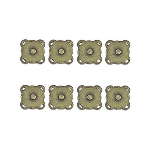 Homoyoyo 15Mm Magnético Coser en Bolsa Cierres Cierre para Bolso de Cuero Cierre de Caja para DIY Hangbag Monedero Cierre de Maleta Ferretería Plata 10 Juegos