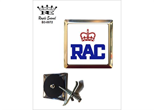 Royale Emaille Royale quadratisch Auto Grill Badge – RAC Royal Automobile Club B3. 0072