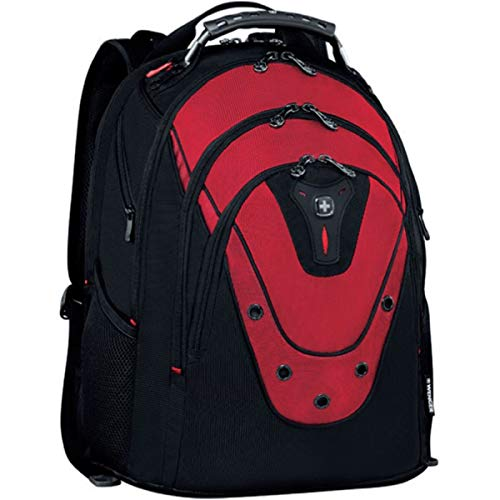 'Wenger 601687 Ibex 17'' Backpack, Padded Laptop Compartment with iPad/Tablet/eReader Pocket in Black {23 litres}', red