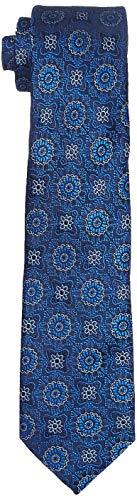 Park Avenue Men's Synthetic Necktie (PZNM17461-B6_Dark Blue_150)