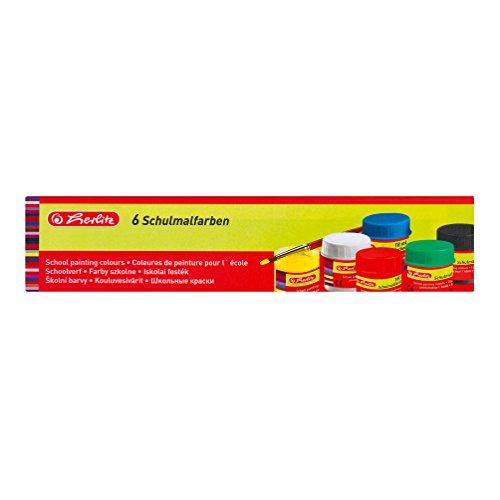 Herlitz 8643025 Schulmalfarben, 6 Farben a 25 ml