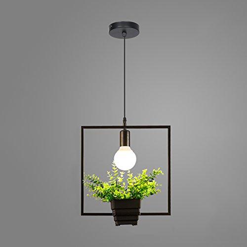 Geometrische bloempot kandelaar van smeedijzer-LED, Scandinavische moderne zwarte decoratieve verlichting lamp-plafondlamp-Europese creatieve café-tafellamp.