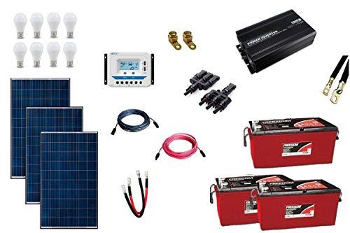 Kit Gerador de Energia Solar 450Wp - Gera até 1305Wh/dia