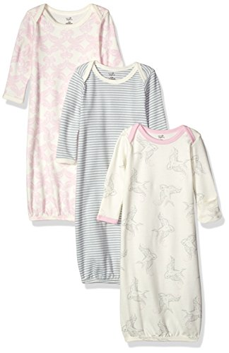 Touched by Nature Unisex Baby Organic Cotton Gowns, Bird, 0-6 Months
