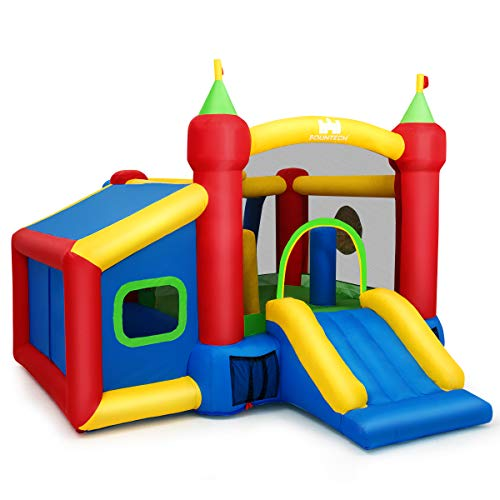 Goplus Castello Gonfiabile per Bambini in PVC con...