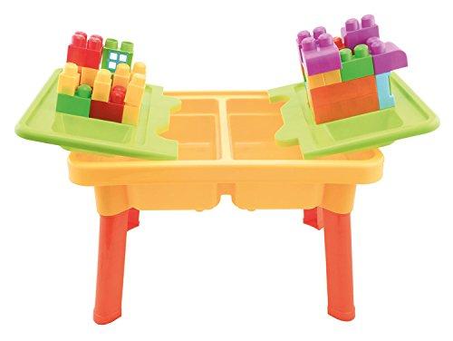 Bieco 06002011 - Kinder Activity Sand und Wasser Spieltisch mit Bauklötze, ca. 59 x 42 x 37 cm
