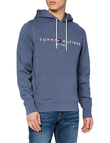 Tommy Hilfiger Herren Tommy Logo Hoody Pullover, Faded Indigo, S