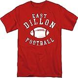 Friday Night Lights East Dillon Mens Fútbol Camiseta Manga Corta Rojo 3X