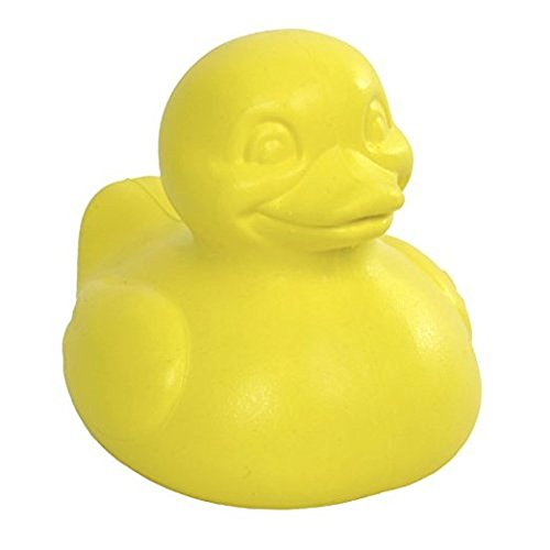 CelebriDucks The Good Duck Yellow - Made in the USA Safe PVC-Free and BPA-Free Rubber Duck Bath Toys for Baby Infant Toddler Fun in the Bath Pool or Water Table