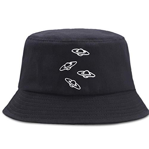HNJYXX Sombreros de Cubo con Estampado de ovnis de Dibujos Animados Unisex Estilo Diario Playa Sol algodón Gorra para Exteriores de Moda Ligero 56-58cm