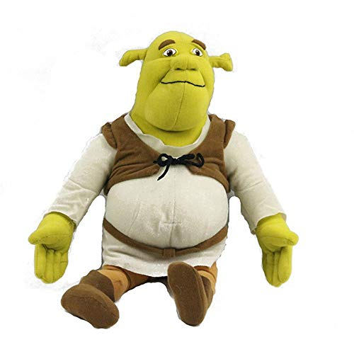 WLHWLH New Movie TV Game Toy Shrek Plush Toys Anime Shrek Stuffed Toy for Kids Christmas Birthday Gifts 15.5 inch