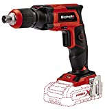 Einhell Cordless drywall screwdriver TE-DY 18 Li-Solo (18 V, locking button for continuous operation, one adjustable depth stop, sold without battery or charger, with E-Box S35)