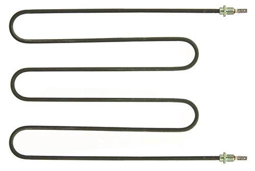 Sirman Heizkörper für Pizzaofen 700W 230V Länge 316mm Breite 235mm Anschluss Flachstecker 6,3mm Anschlusslänge 34mm M12x1,5
