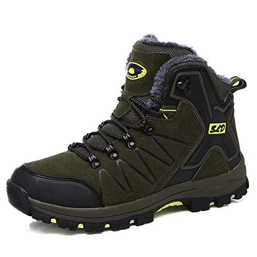 Lyoridra Winterschuhe Herren Winterstiefel Damen Wasserdicht Gefüttert Schneestiefel Winter Outdoor Wanderschuhe Trekking Boots