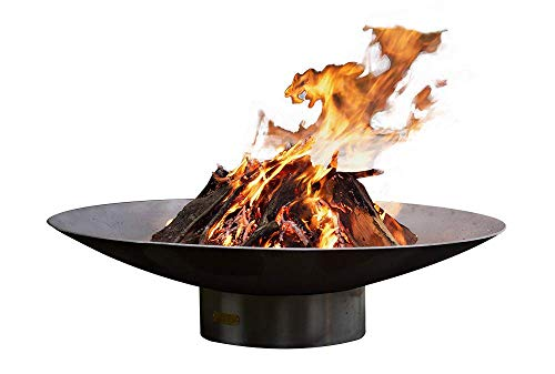 Lowest Price! Fire Pit Arts Outdoor Gas Fire Pit - Bella Vita 70 - Match Lit Steel Bowl Natural Gas...