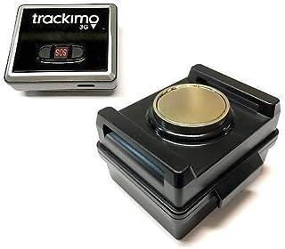 [セット品] 2点セット Trackimo(トラッキモ) 小型GPSトラッカー [TRKM010] リアルタイム追跡GPS発信機 + マグネット付き防水ケース (大容量3500mAhバッテリー内蔵)