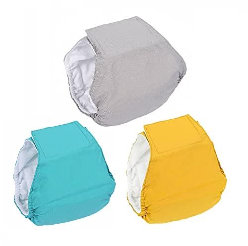 BePetMia Pañales Lavables para Perros machos, Ropa Interior higiénica para Cachorros, Perros en celo e incontinencia, 5 Tallas para Perros pequeños, medianos y Grandes (XS: 22-32cm, Set-1)