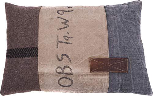 In The Mood Vintage OBS - Sierkussen - 40x60 cm - Kiezel/Bruin/Antraciet