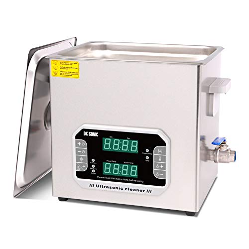 DK SONIC 10L Large Touch Ultrasonic Cleaner with Heater,Timer,Multiple Cleaning Mode for Carburetor,Automotive Parts,Gun Parts,Circuit Board,etc