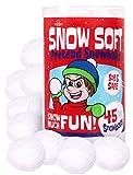 Narwhal Novelties Jumbo 45-PK SNOWBALLS for Kids; Best Indoor Snowball Fight, Christmas Stocking Stuffers for Kids, Christmas Party Favors