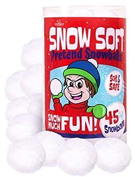 Narwhal Novelties Jumbo 45-PK SNOWBALLS for Kids  Best Indoor Snowball Fight Christmas Stocking Stuffers for Kids Christmas Party Favors
