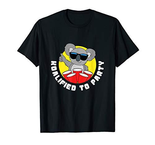 Funny Koalified To Party T-shirt Koala Bear Animal Quote