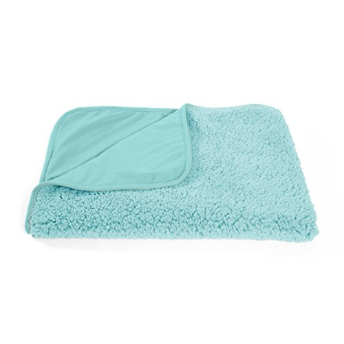 "Best Friends by Sheri Sherpa Pet Throw Blanket / Portable Dog Mat / Cat Mat, 30""x40"", Teal"