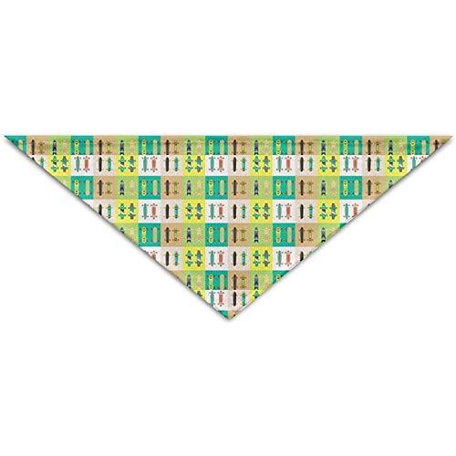 Emilde kleurrijke skate skateboard huisdier sjaal hond kat bandana kragen driehoek halsdoek