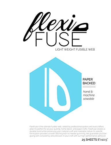 "FlexiFuse Lightweight Fusible Web - 25 Sheets (8"" x 10.5"")"