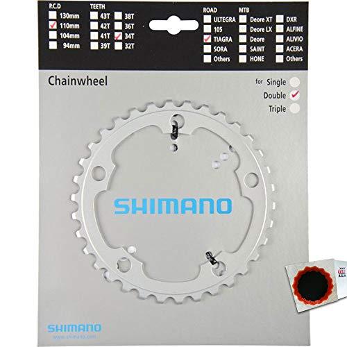 SHIMANO Kettenblätter TIAGRA FC-4650 34 Zähne 110mm Aluminium Silber Fahrrad