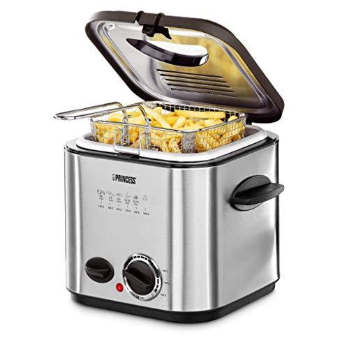Princess 182611 Mini-friteuse met fondue, snelle opwarming, geurfilter, inhoud 1,2 liter