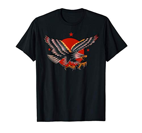 Traditional Tattoo American Eagle, Bald Eagle Illustration T-Shirt
