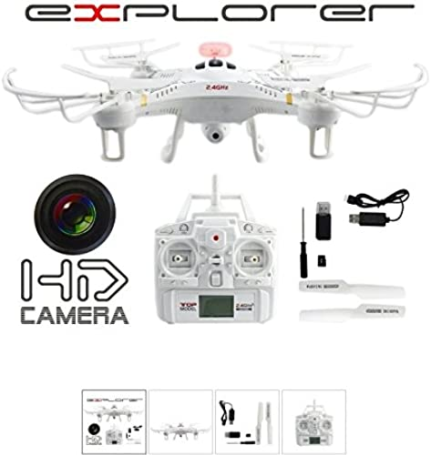 Fm-electrics FM118 - Drone Video Foto HD Kamera Explorer 2,4GHz Zubeh Quadrocopter Fly Extrem Ferngesteuert Neu, Weiß