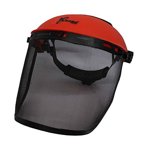 Kawapower KW391 Pantalla Proteccion Facial con Malla, Rojo