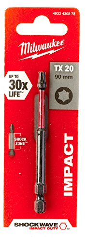 Milwaukee 4002395385409 Schrauberbit Shockwave Gen II TX20 / 90 mm