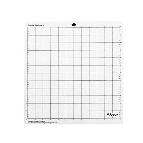 Aibecy 3 peças de 30,5 cm, tapete adesivo translúcido de material PP com capa transparente para máquina plotter Silhouette Cameo