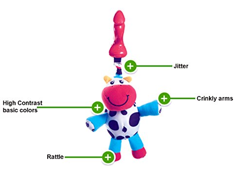 Tiny Love Smarts Clip on Toy, Chloe Cow
