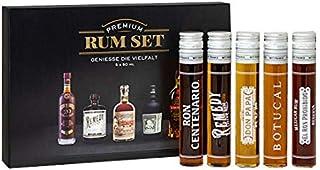 Premium Rum-Set 5x 0,05l 50ml 40% - 41,5% Vol Tasting Set Mini - Enthält Sulfite