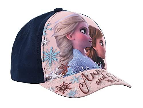 Kinder-Kappe, Motiv: Die Eiskönigin Frozen Disney Elsa und Anna, 3 bis 9 Jahre (Marineblau, cm, Numeric_54)
