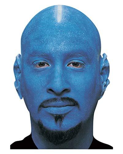 Horror-Shop Blaue Glatzenhaube aus Latex als Theaterschmink Zubehör