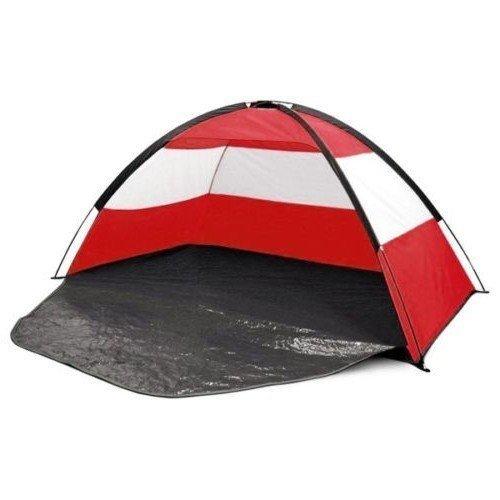 Preisvergleich Produktbild Ultraviolett Schutz Factor UPF40 Strand Zelt Obdach Sonne Schatten Garten - Rot