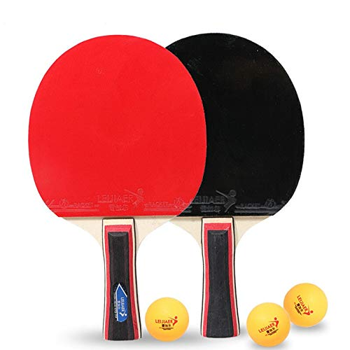 For Sale! SDSDEK Professional Long Handle Grip Table Tennis Racket Shake Hand Pingpong Racket Paddle...