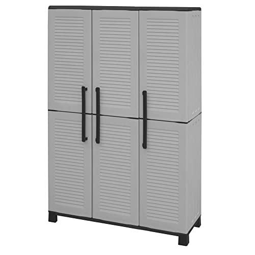 armadio da esterno plastica 3 ante Artplast Family–Armadio Alto 3Ante con Porta Scope in Polipropilene