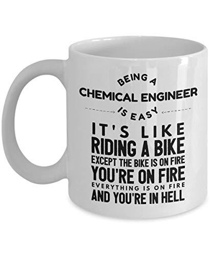 Eastlif aza de ingeniería química - Ser un Ingeniero químico es como Andar en Bicicleta - Taza de café de cerámica Blanca novedosa