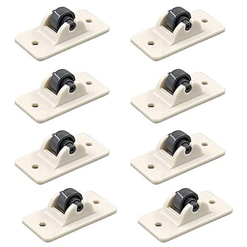 Plástico Ruedas, 8 Piezas Ruedas Adhesivas Para Muebles, Mini Ruedas De Muebles, Beige, para Caja De Bricolaje, Contenedor De Almacenamiento, Muebles Pequeños(1.9 * 0.9 * 0.7inch)