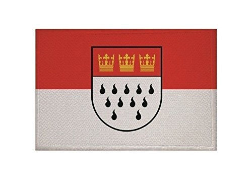 U24 Aufnäher Köln Fahne Flagge Aufbügler Patch 9 x 6 cm